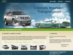 Colorado Mountain Transportation website design and development