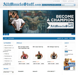 AllMuscleStuff website design and development