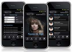 Booking app for VIP Coiffeurs mobile application