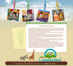 'Childrenland' website design and development