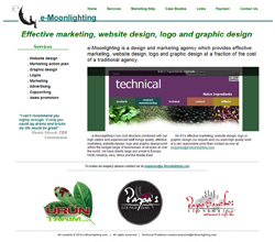 e-Moonlighting (marketing agency) website