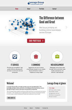Web design and development for the Lansaga Group website