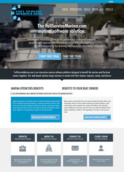 Web design and development for the Fullservicemarina website