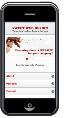 Sweet Web Design goes Mobile