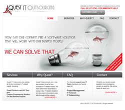 Quest IT Outsourcing website design and development