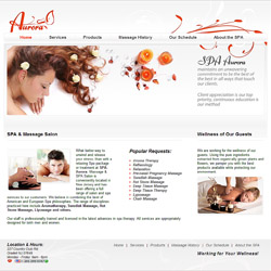 SPA salon website design and development