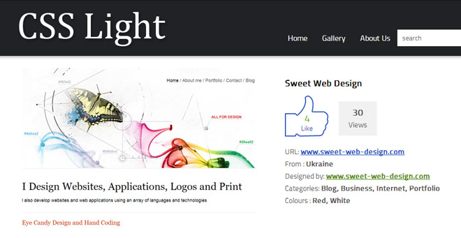 Sweet Web Design on CSS Light