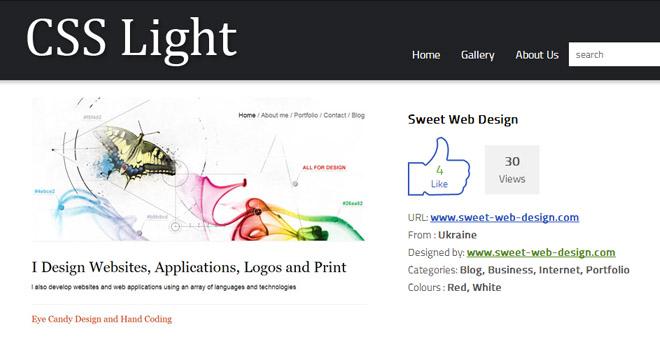 Sweet Web Design on CSS Light