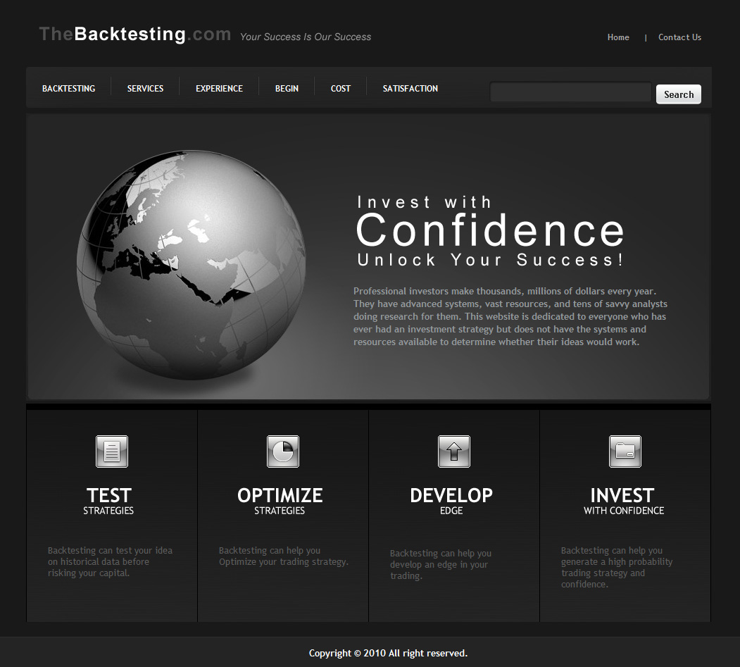 this website is done for thebacktesting this firm back tested
